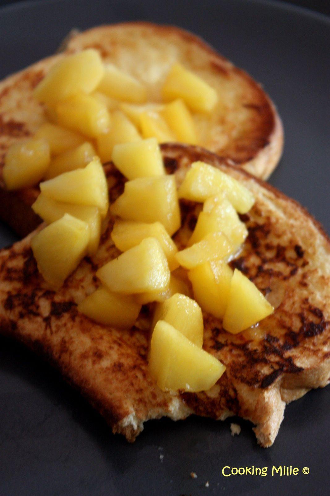 Brioche façon pain perdu aux pommes fondantes
