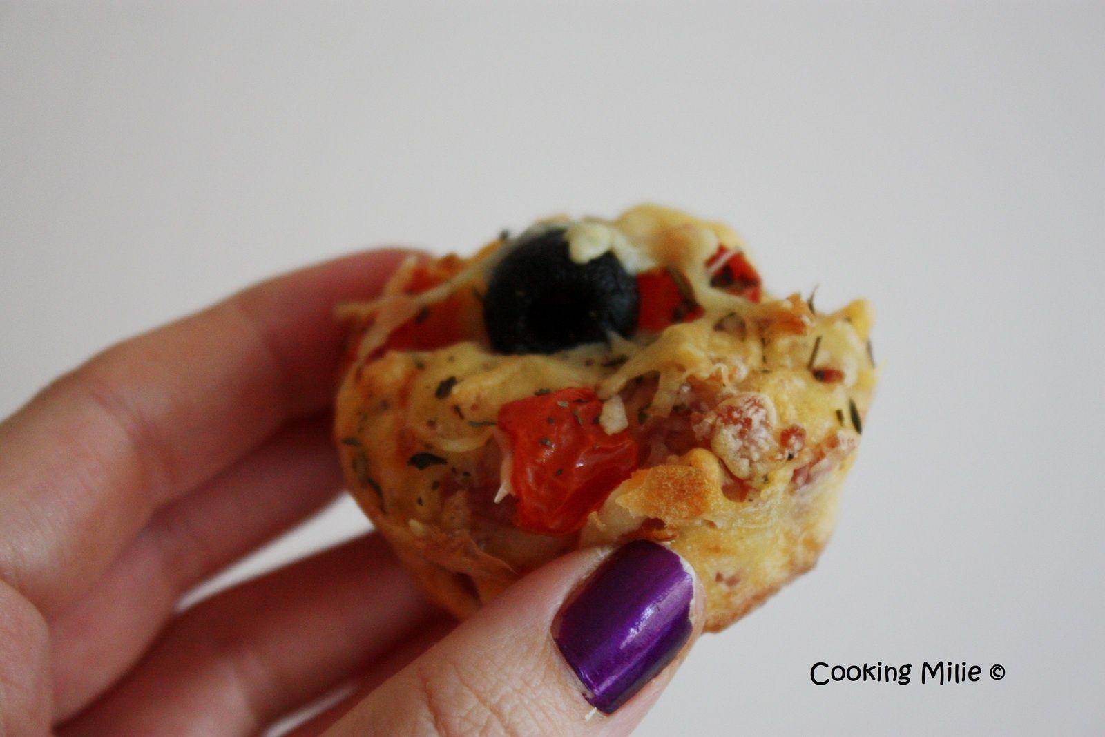 Apéritif dinatoire #61 - Muffins façon pizza