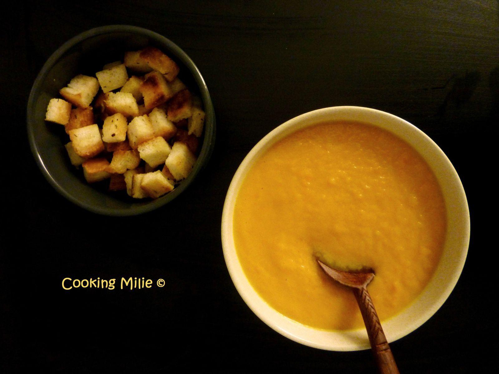 Soupe de carottes à la crème de coco