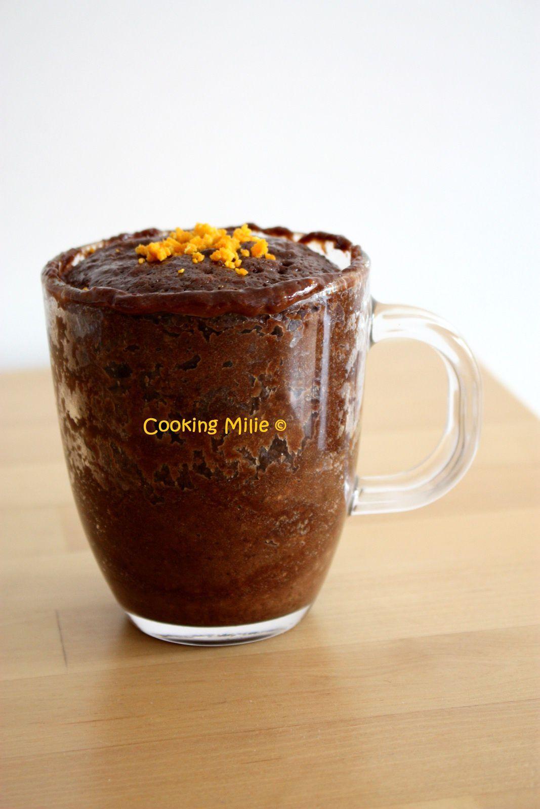 Mug cake chocolat clémentine