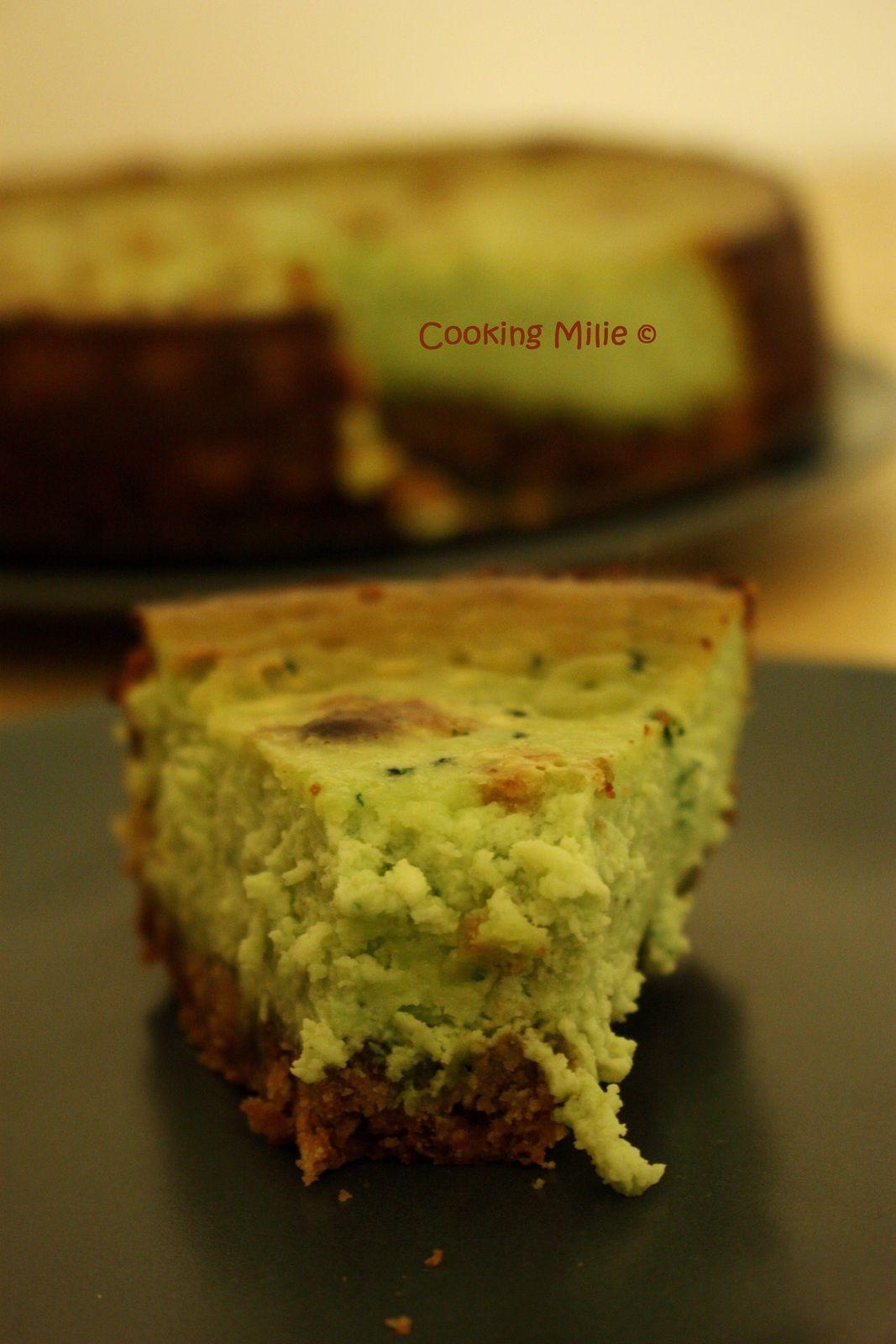 Cheesecake à la pistache