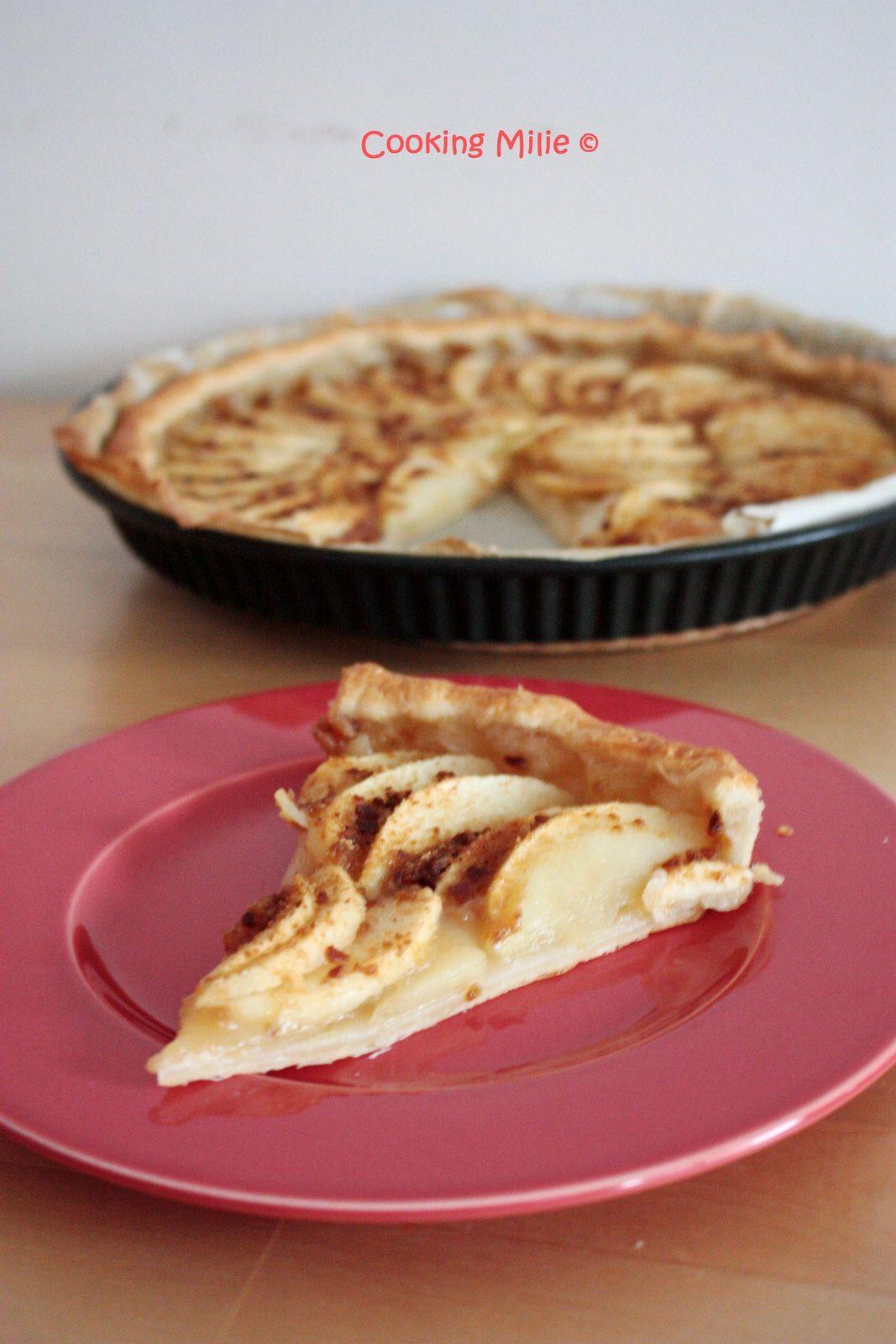 Tarte aux pommes et poudre de pain d'épices