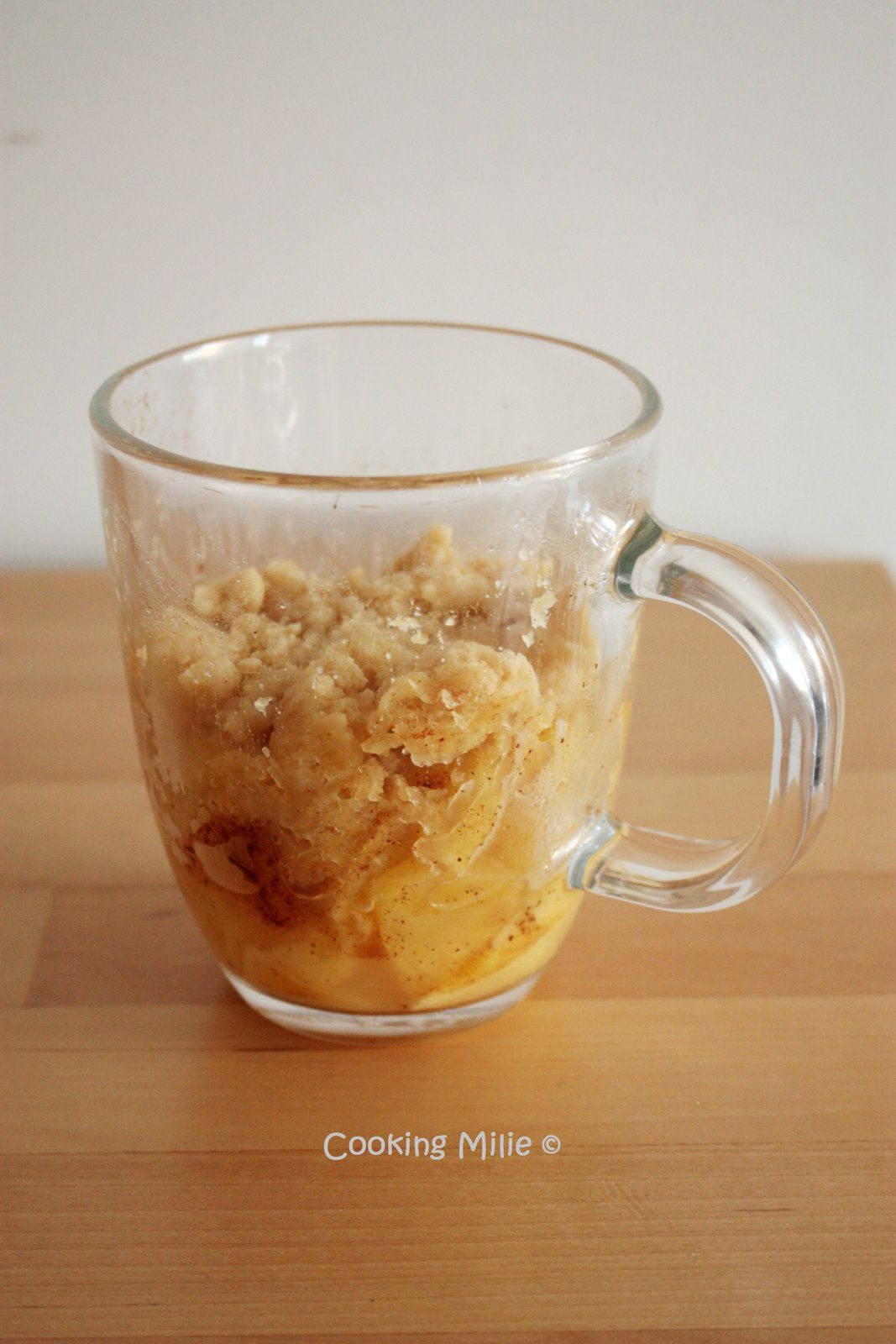 Mug crumble pomme cannelle