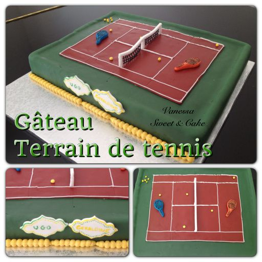 g teau terrain de tennis vanessa sweet cake. Black Bedroom Furniture Sets. Home Design Ideas