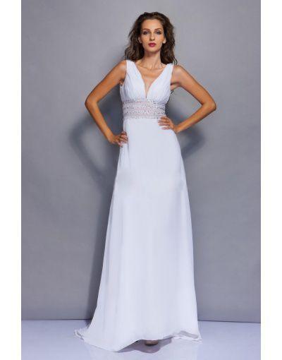 abito bianco semplice