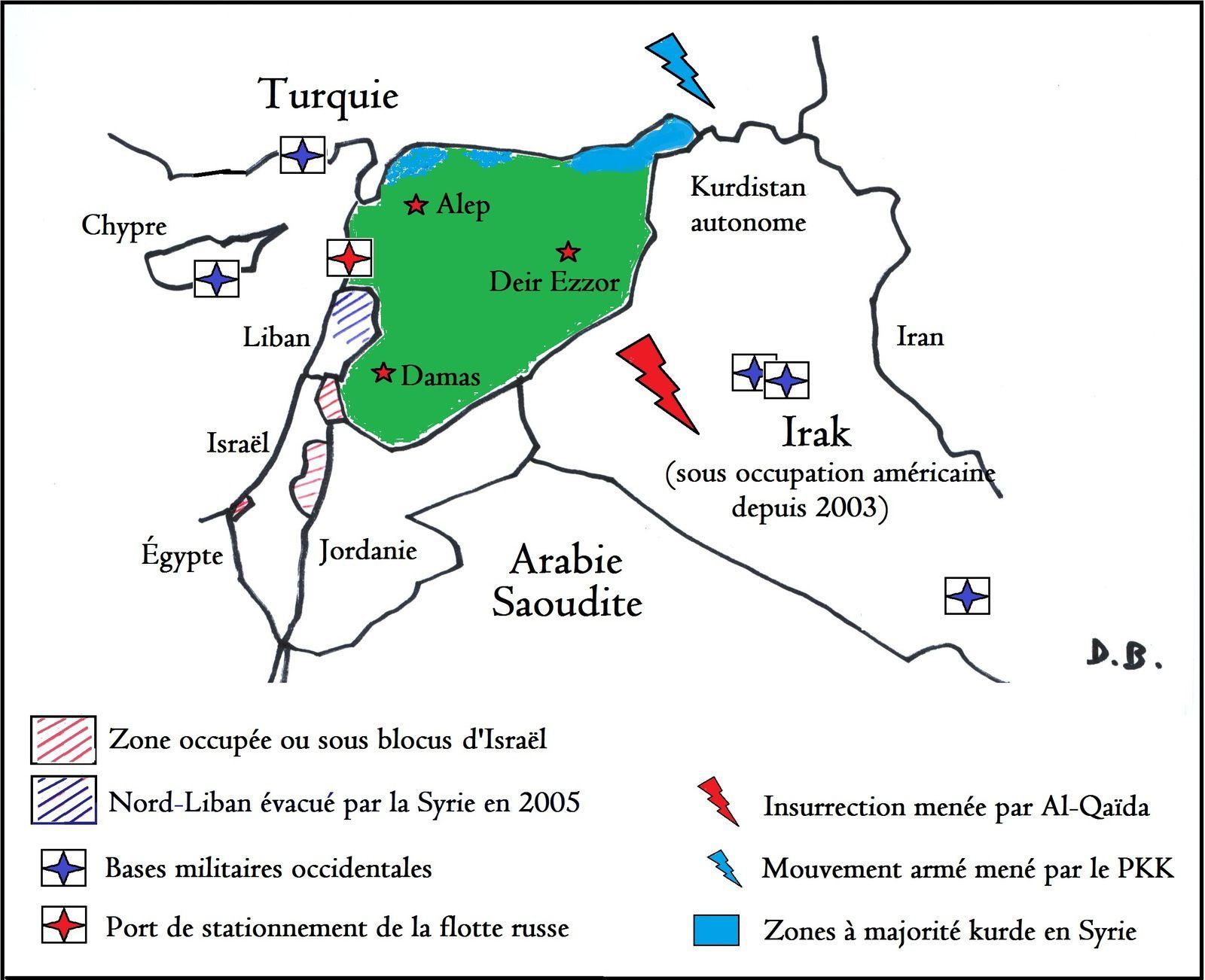À l'aube de la Révolution, l'environnement régional de la Syrie est déjà particulièrement sensible, voire s'avère propice à un embrasement. Une telle configuration donne évidemment un écho particulier aux évènements qui s'y déroulent depuis trois ans et demi.