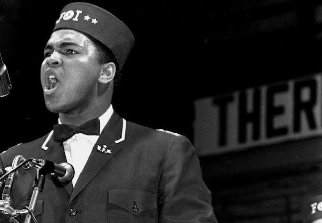 Photo d'archive : Mohamed Ali, à la Black Muslim convention de Chicago, le 25 février 1968.