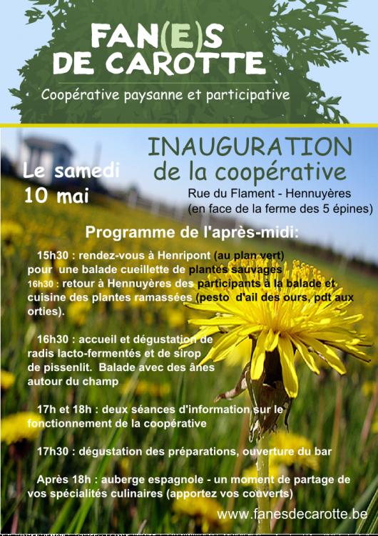 10/05 Inauguration de la coopérative Fan(e)s de Carotte