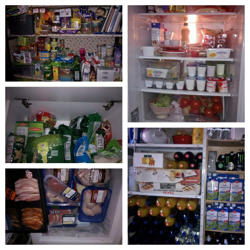 Qui dit week end loin de la maison, dit frigo et placards vide ... J'y ai remédié !