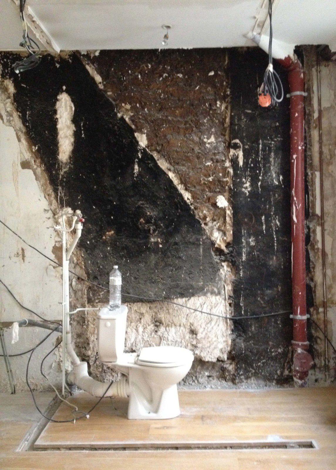 Démarrage des travaux &#x3B; démolition, reconstruction, pose du carrelage (Casamood)...