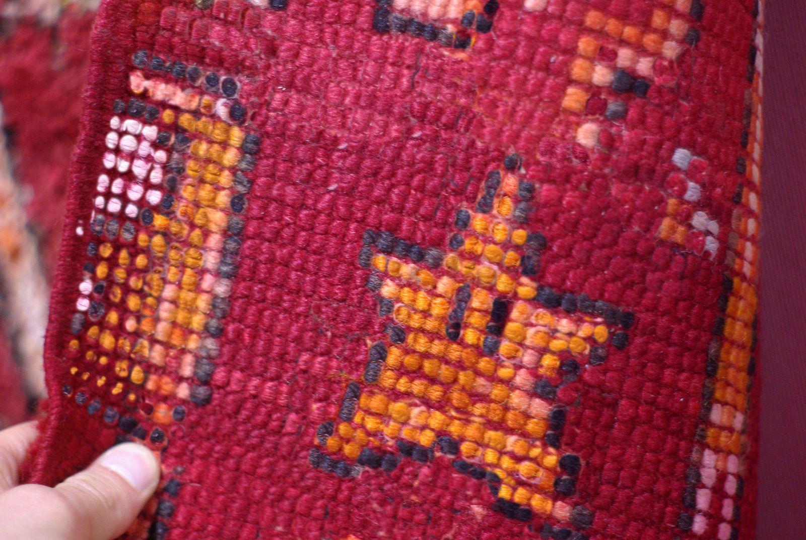 Infographie préparatoire pour un projet de tapis, noué dans le style de la région de Zemmour