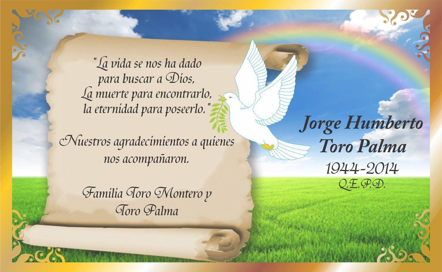 Postal Cielo Arcoiris Para Jorge Toro Tarjetas De Agradecimiento
