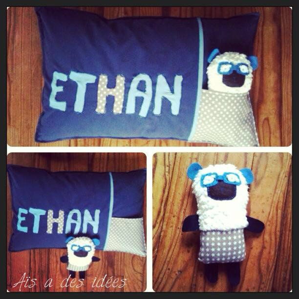 Coussin de naissance: Bienvenue à Ethan