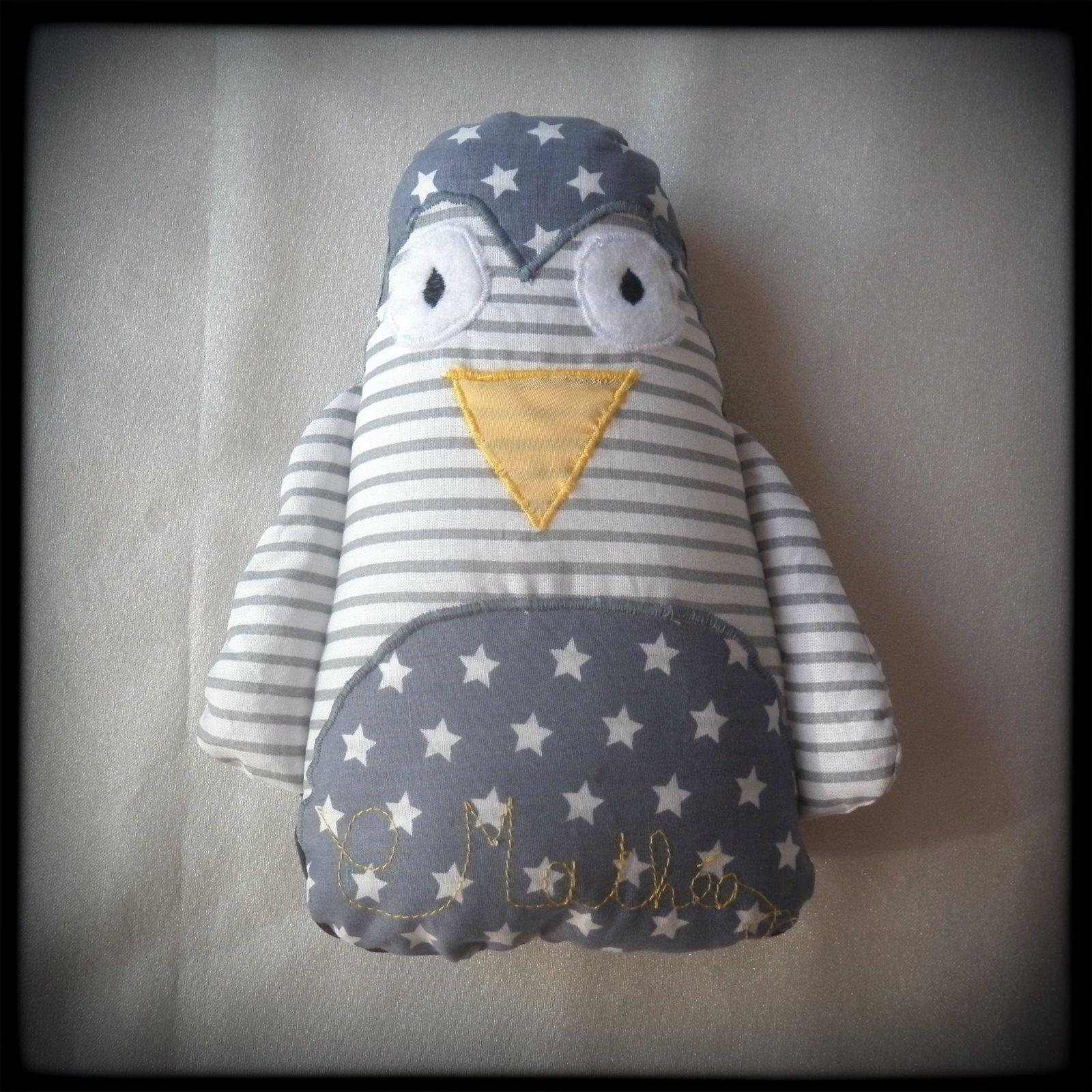 Le doudou pingouin de Mathéo