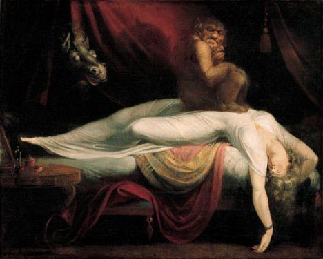 """Henry Fuseli - """"Le cauchemard"""" (exposé pour la première fois en 1782, actuellement à la Tate Gallery)"""