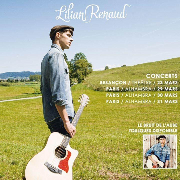 Lilian Renaud donnera une série de concerts à l'Alhambra à Paris en Mars 2016 !