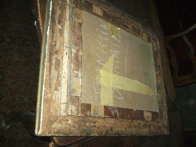Ancien tableau portrait grand pere noble encadr hst huile for Le pere du meuble furniture