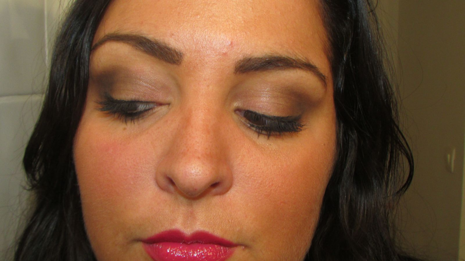 Make Up of the Day oeil de biche et bouche framboise