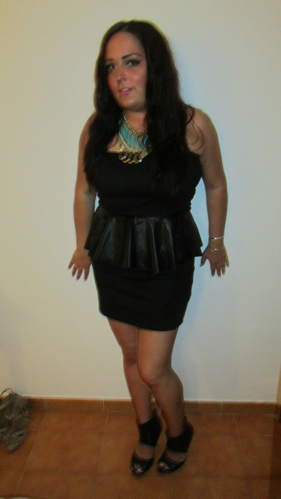Outfit Of the night la petite robe noire peplum
