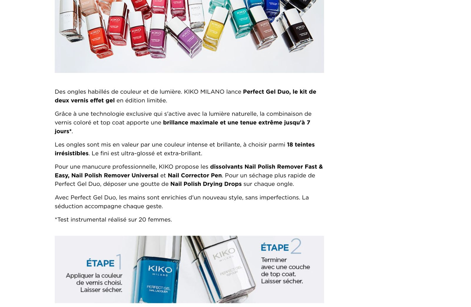 Perfect gel duo by Kiko : un vernis effet gel Top ou Flop?