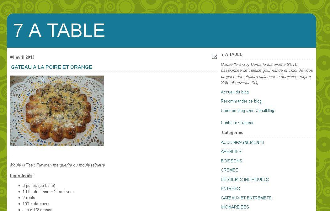 Relooking blog cuisine &quot&#x3B;7 à Table&quot&#x3B; - Canalblog