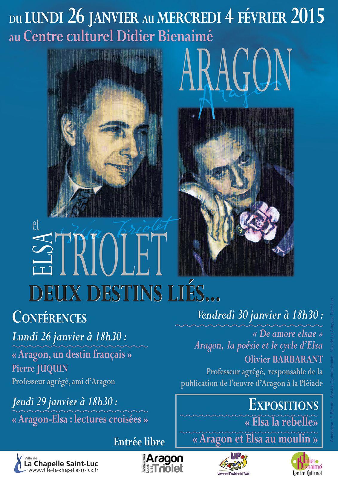 EXPOSITION-DÉBATS : ARAGON/TRIOLET