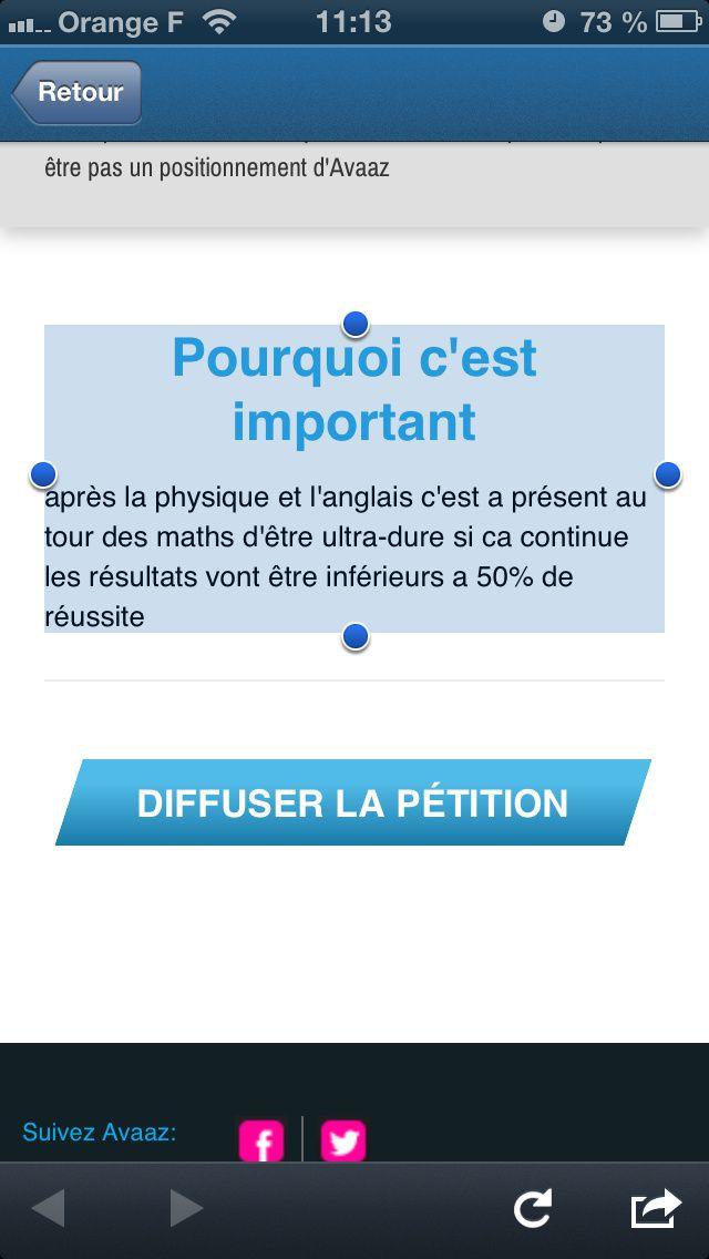 Populisme au baccalauréat! #bac #pétition