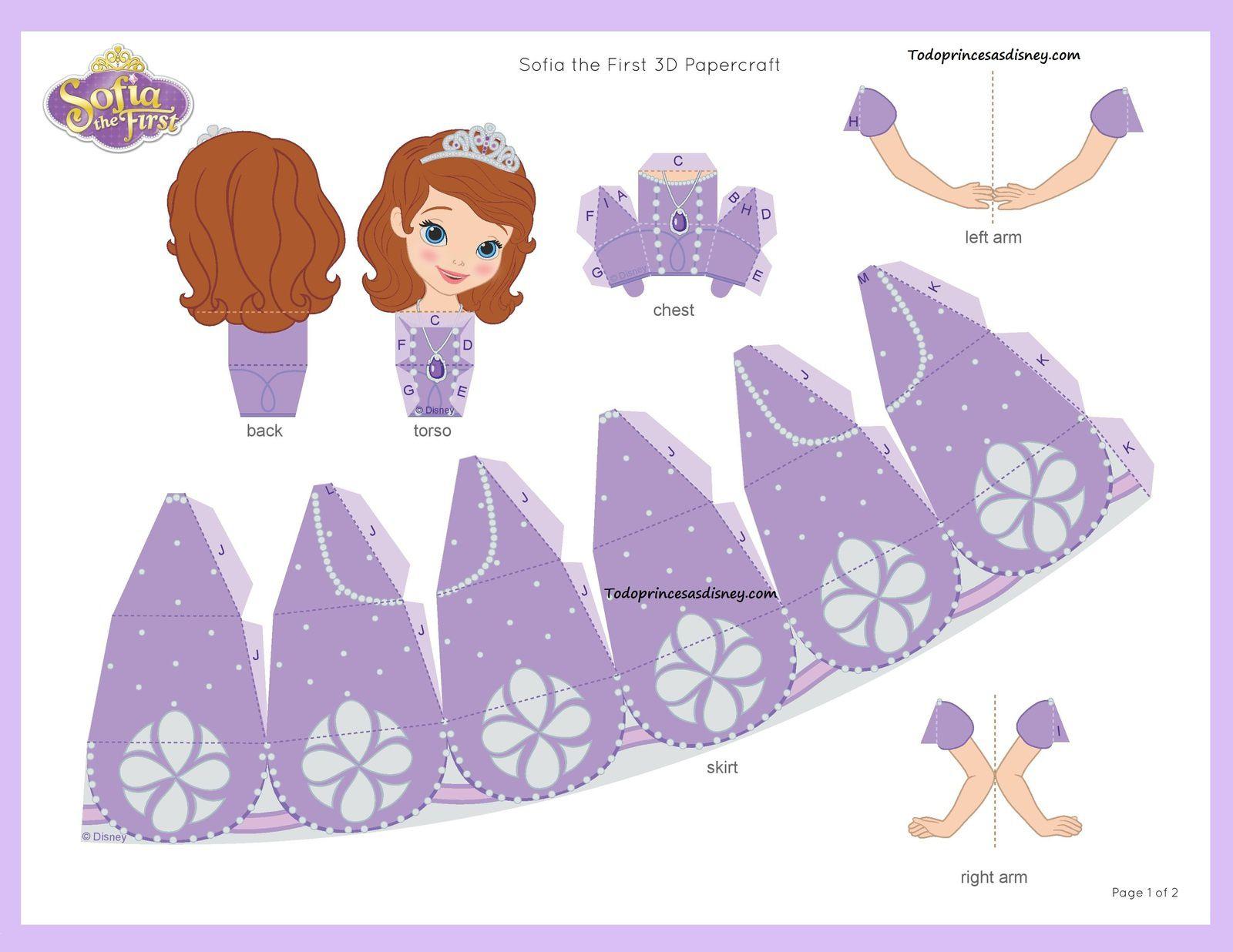 PaperToy Princess Sofia