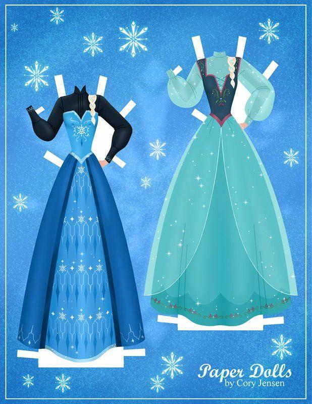 Papertoy la reine des neiges Disney...