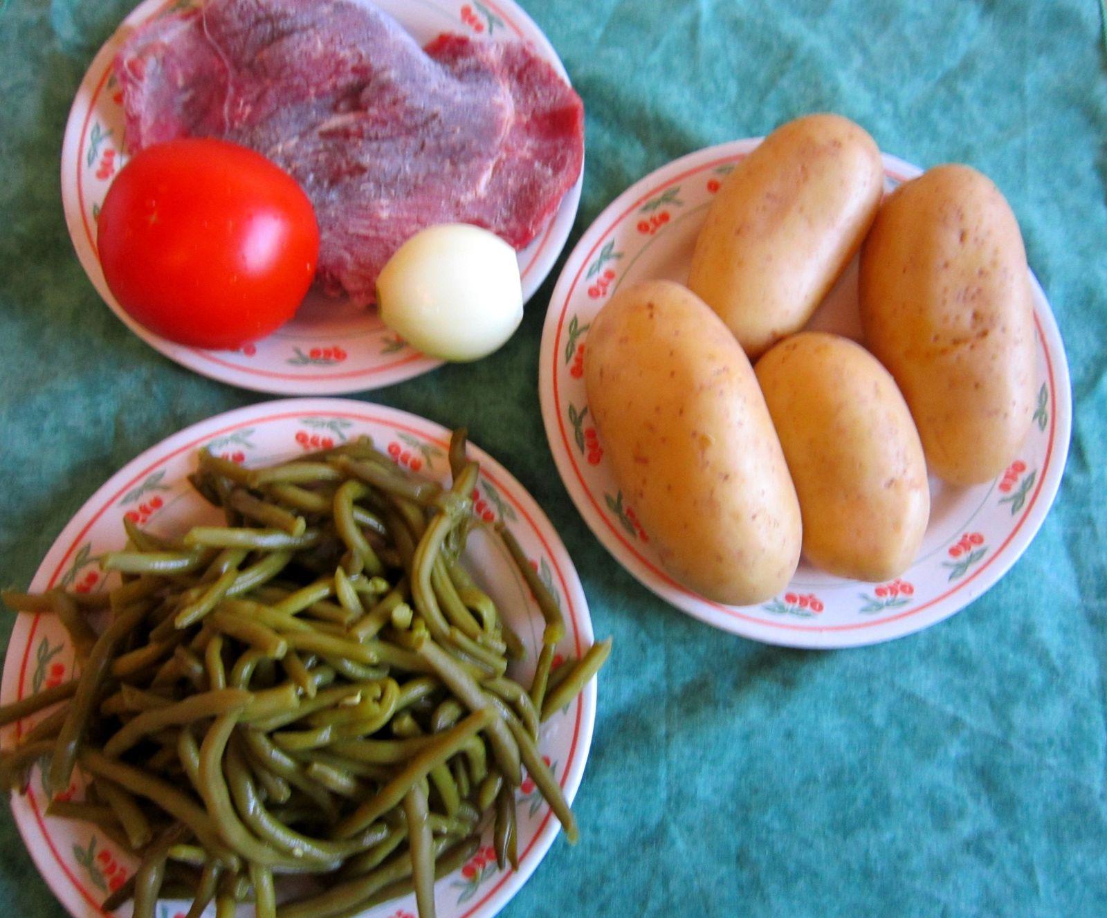 Ragout de pomme de terre aux haricots verts
