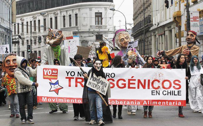 Marche contre monsanto à Valparaiso