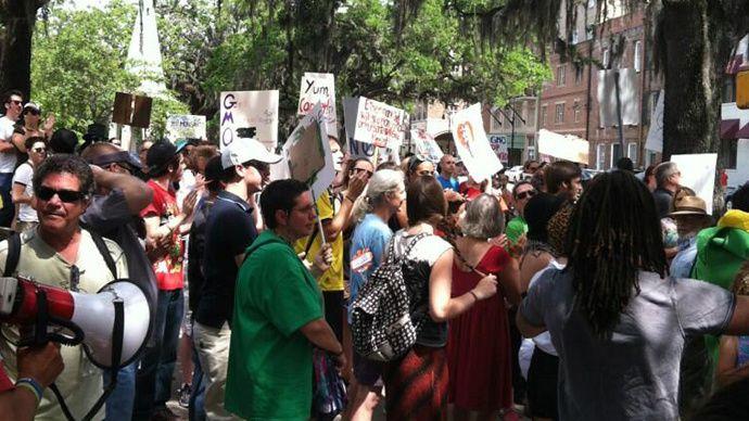 Marche contre monsanto à Savannah