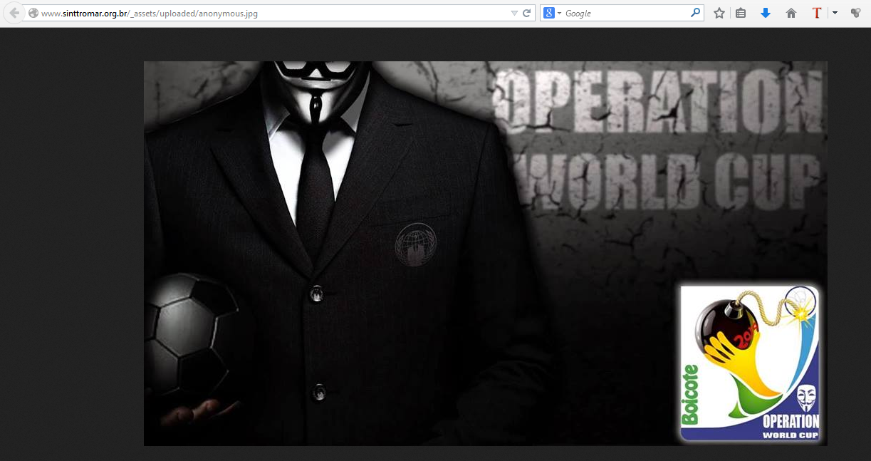 Anonymous: (maj) #OpWorldCup #OpHackingCup liste des attaques  effectuées