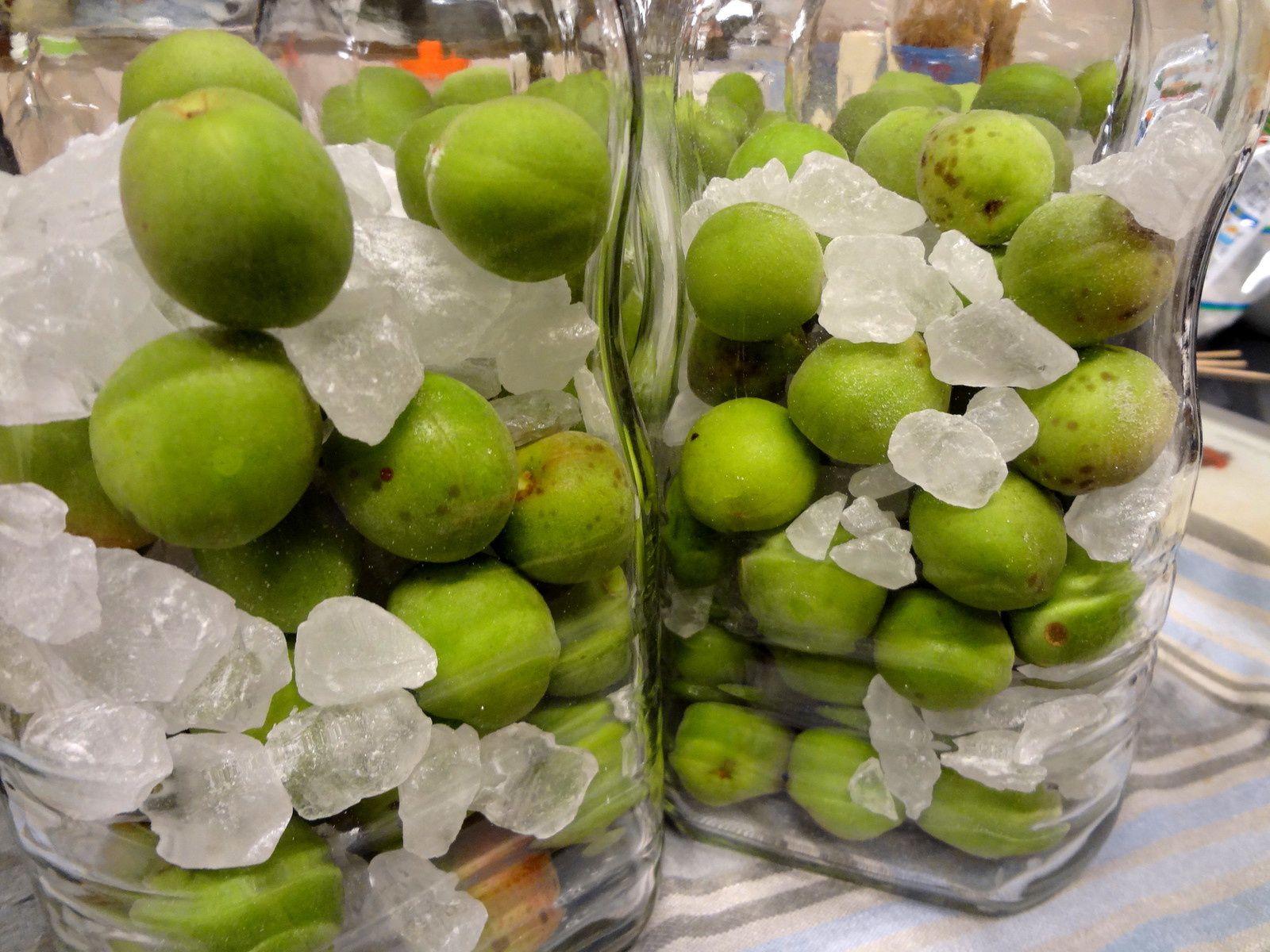 Les prunes vertes 'ume' en 2015