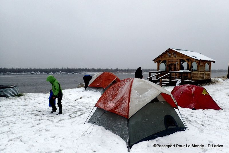 Notre dernier jour : tempête de neige ! Les tentes sont impraticables !