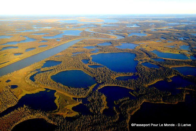 Old crow Flats, région de lacs et de rivières, en territoire Vuntut Gwitchin