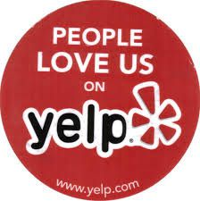 The stick you can display in your shop to promote your page on Yelp