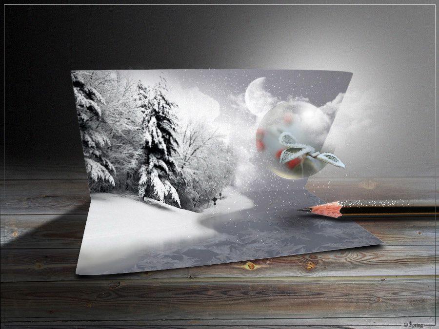 Photomontage inspiré d'un tuto Alfoart