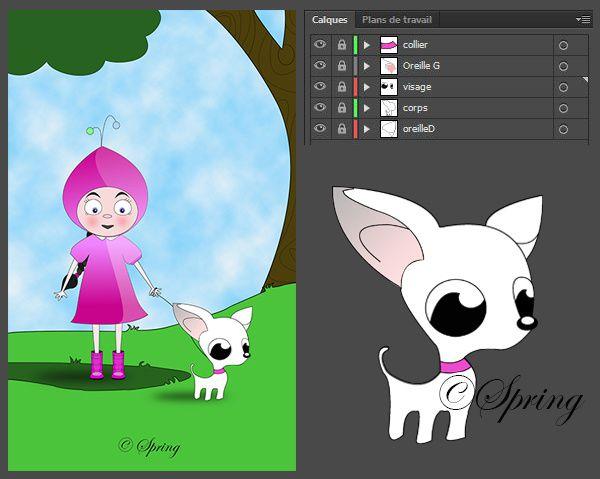 Illustration vectorielle réalisée avec Ai et Bamboo wacom.