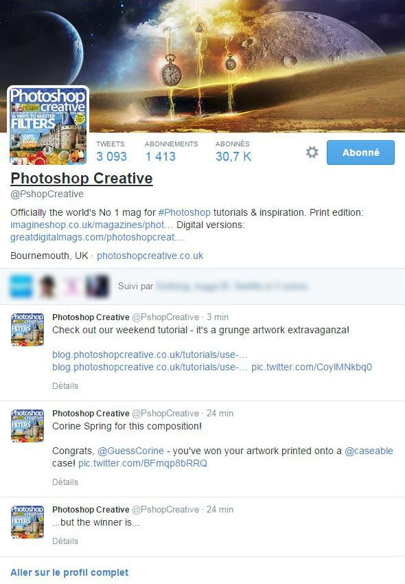 Gagnante du Header Twitter photoshop creative