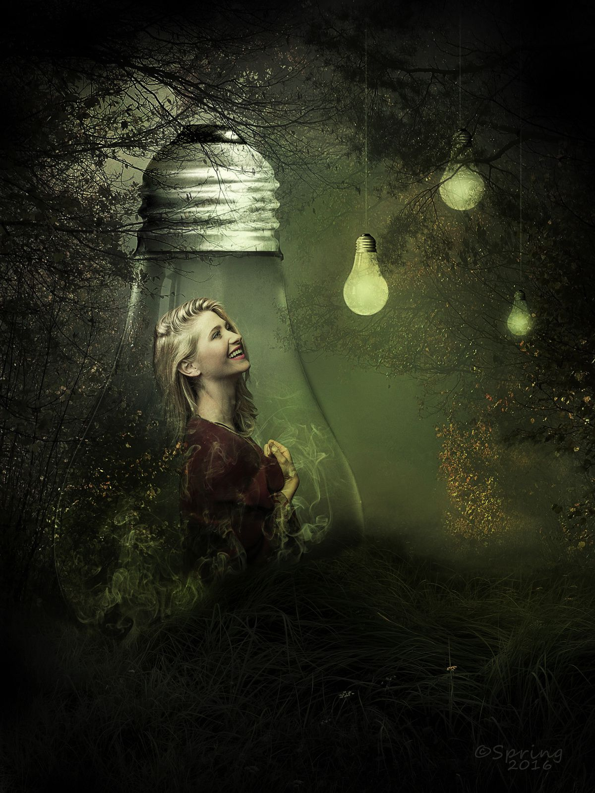 Magic green light