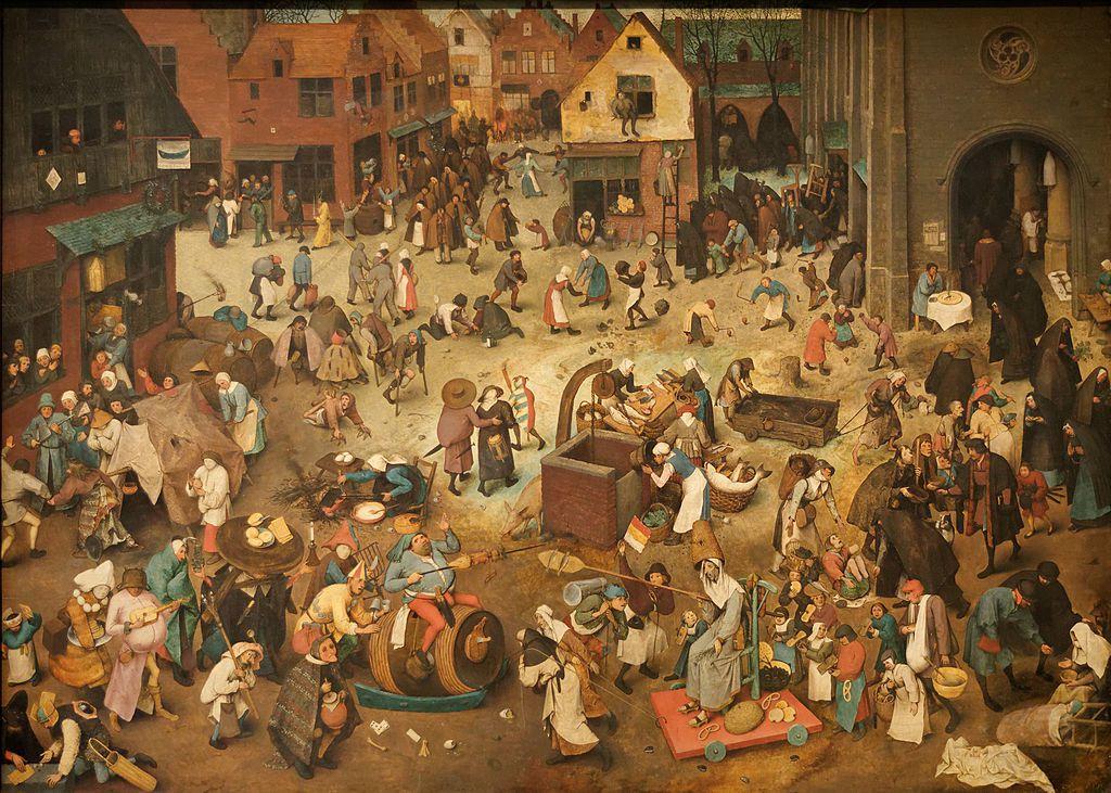 Le Combat de Carnaval et Carême, Pieter Brueghel l'Ancien (1559)