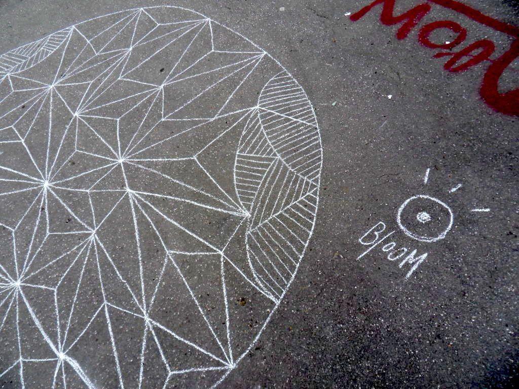Graph à la craie place Rouville - Lyon