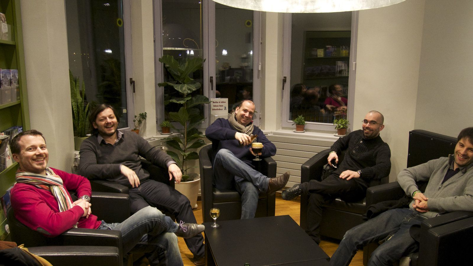 from the left to the right: erwan jerger, matt gwb (also called snoring pig), thibault matray, david slaveofpaint