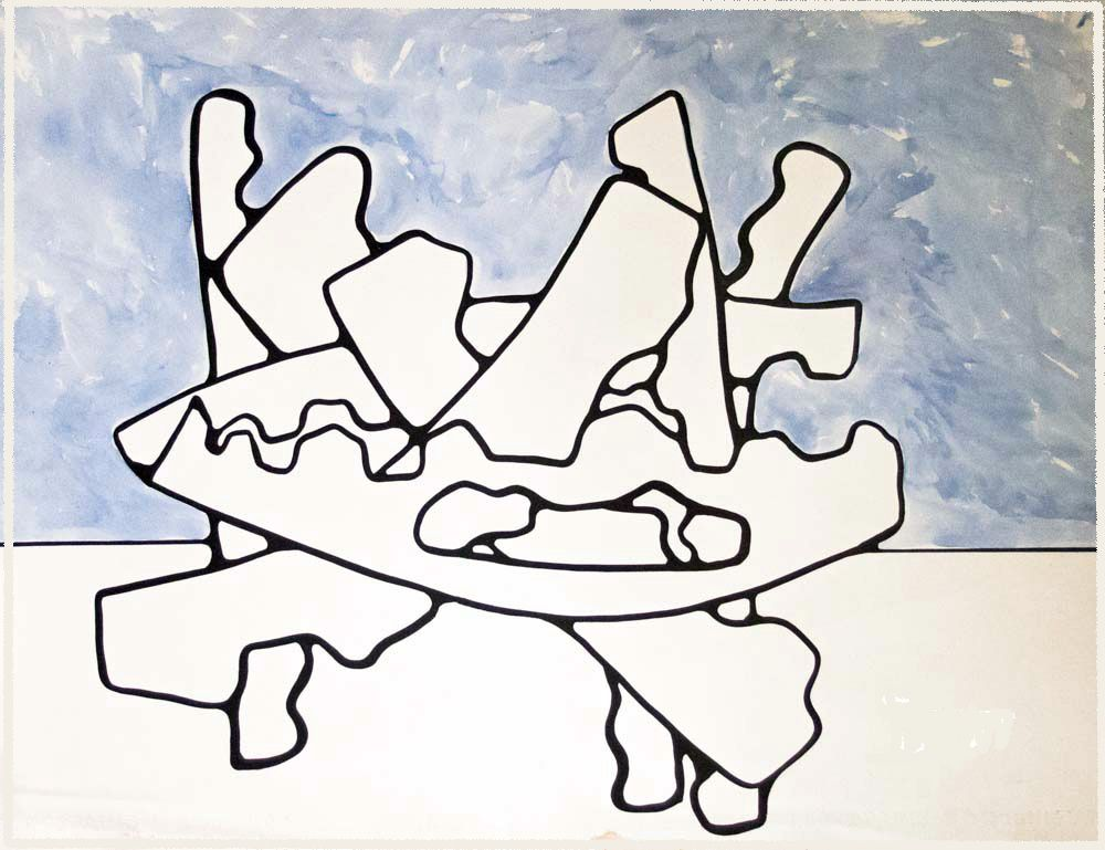 95 -Technique mixte - 50 x 65 cm.