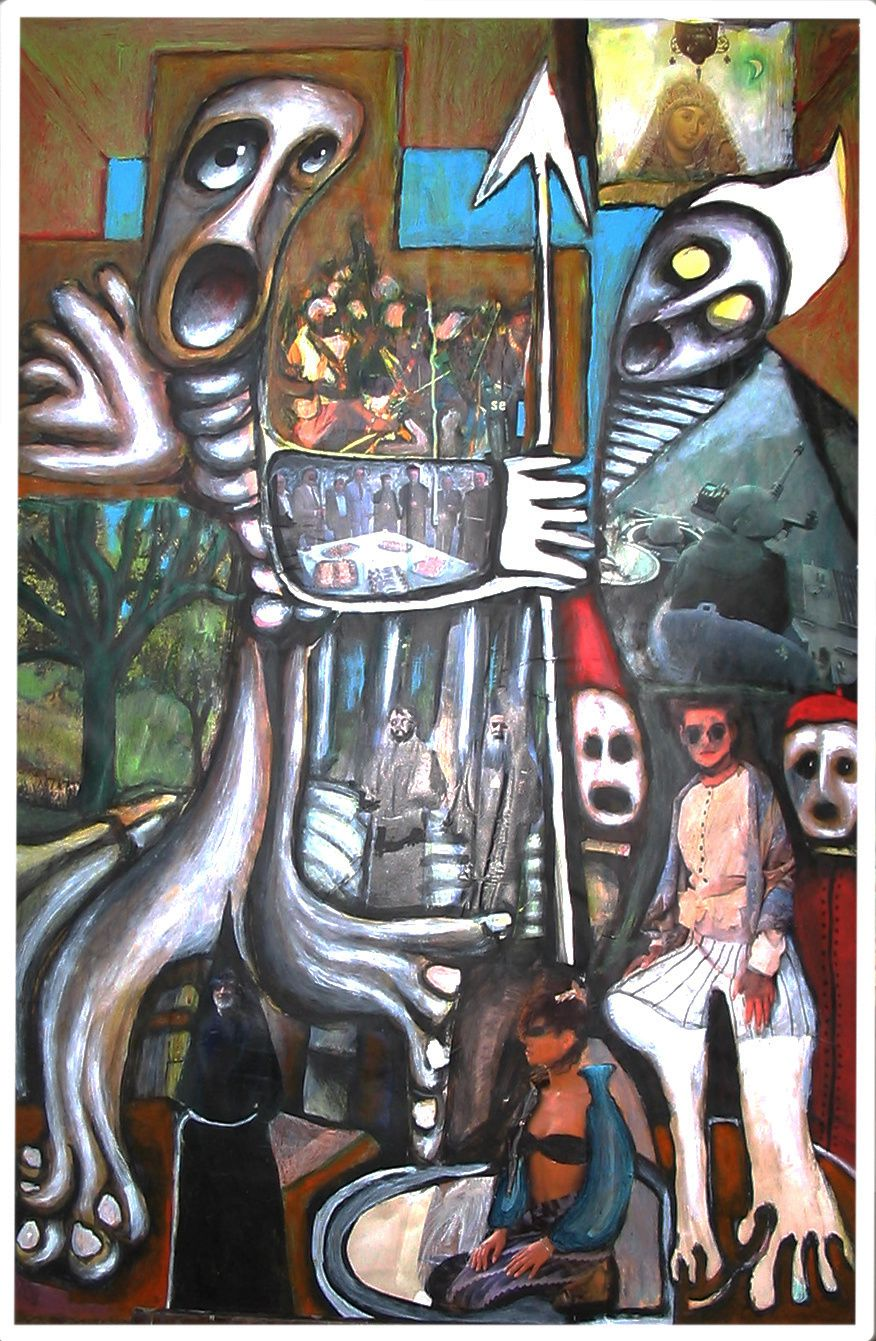 68  - Technique mixte - 110 x 75 cm.