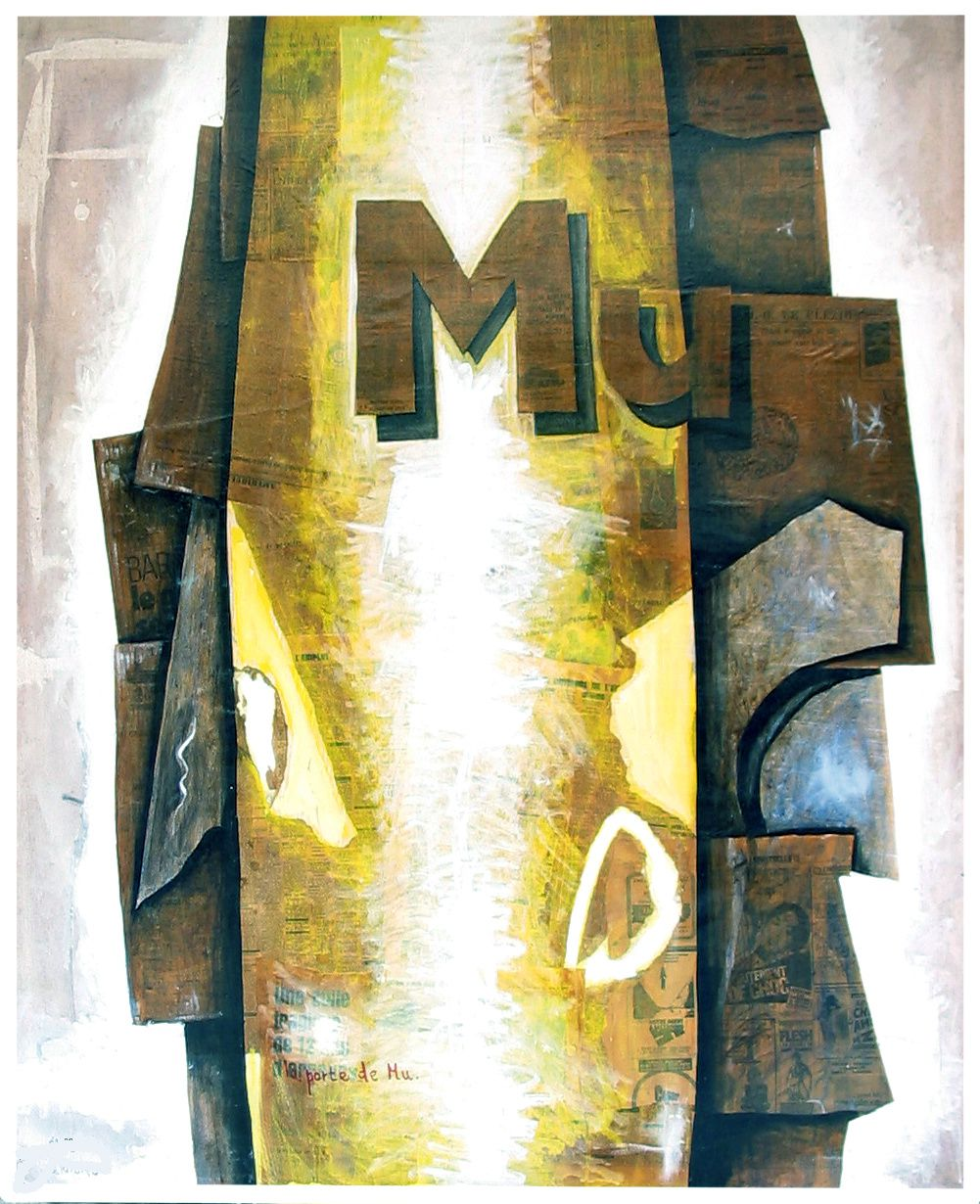 18  - LA PORTE DE MU - Technique mixte - 162 x 130 cm.