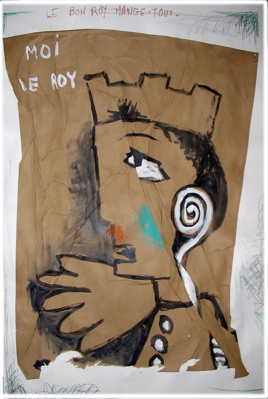 13 - MOI LE ROY -Technique mixte -110 x 75 cm.