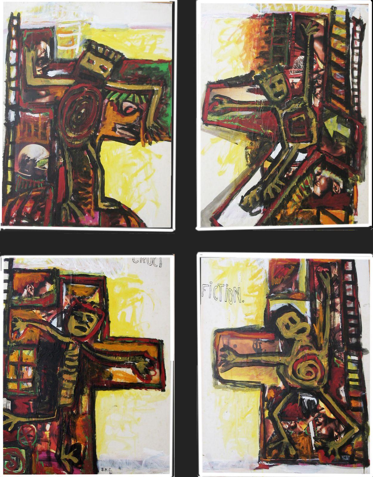 84  - Technique mixte - 4 x 65 x 50 cm.