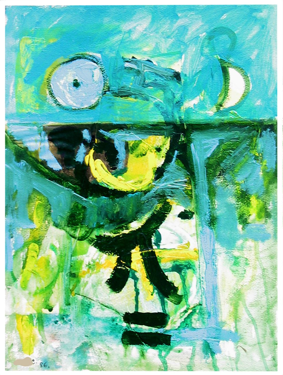 58 -Technique mixte - 40 x 30 cm.